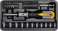 46PCS RATCHET SCREWDRIVER WITH BITS SET