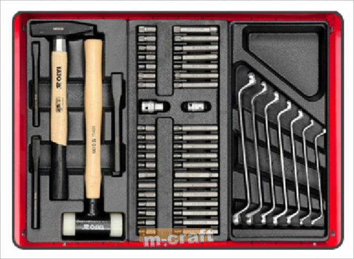 SERVICE TOOL CABINET WITH TOOLS, 6 DRAWERS 177 PCS